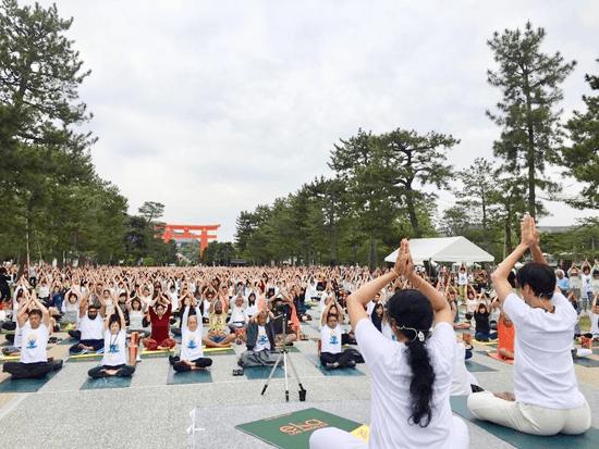 国際ヨガDAY関西2017京都