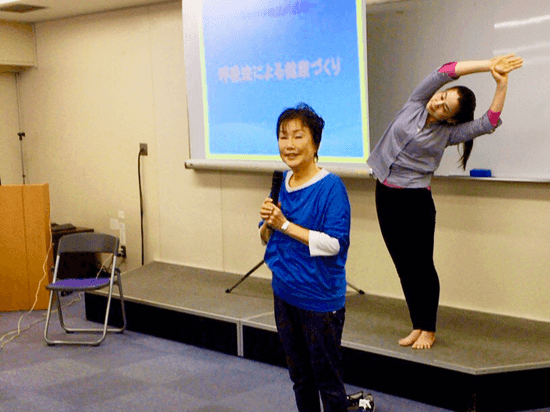 神戸健康大学での講演