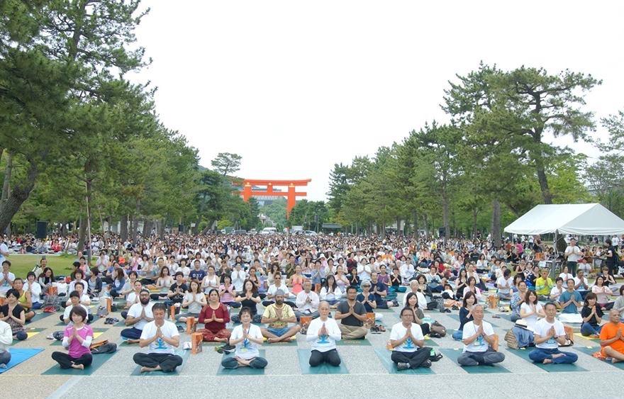 国際ヨガDAY関西2017in京都 1000人ヨガ